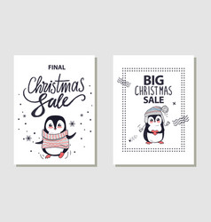 Final and big christmas sale vector