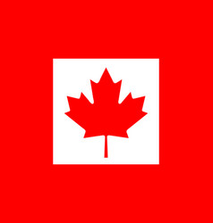 flag of canada national symbol of the state vector image