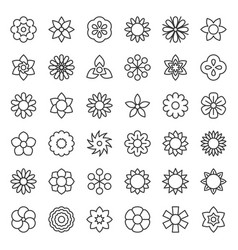 Flower and floral logo icon isolated editable vector