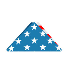 Folded us flag triangle symbol of mourning vector