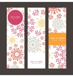 Folk floral circles abstract vertical vector