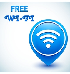 Free wifi icon location mark vector