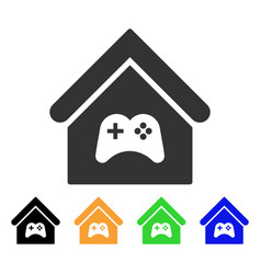 Game center building icon vector