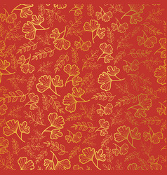 Golden and orange leaves texture seamless vector