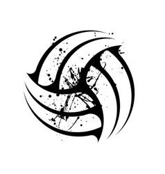 Grunge volleyball symbol vector