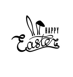 hand drawn inscription happy easter easter vector image