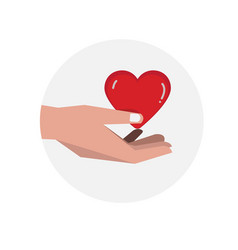 hand giving heart vector image