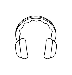 Headphone music melody sound icon graphic vector