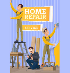House repair home renovation service vector