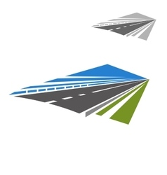 Icon highway disappearing beyond horizon vector