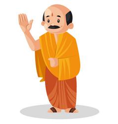 Indian pandit cartoon vector