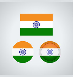 indian trio flags vector image