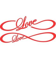 Infinity Love vector
