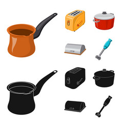 Isolated object of kitchen and cook icon vector