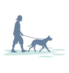 Kennel boy dog day care logo icon vector