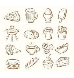 kitchen icon set vector image