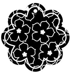 label flower chinese pattern flower sakura vector image