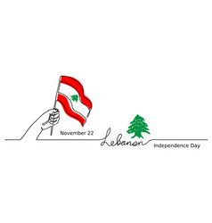 lebanon lebanese independence day vector image