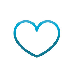 like heart user interface blue gradient vector image