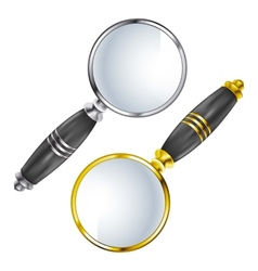 Magnifying lens search vector