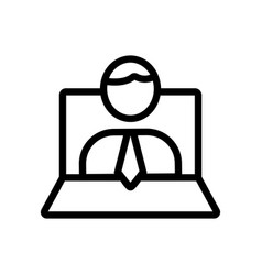 mentor laptop icon isolated contour symbol vector image