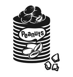 Peanut flask icon simple style vector