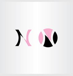 pink black logo n letter element vector image