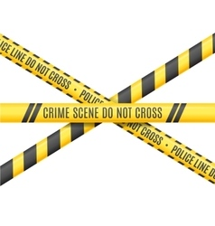 Police Line Scene Crime Do Not Cross vector image