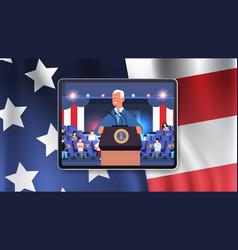 President democrat winner united states vector