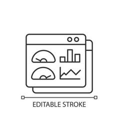 Productivity dashboard linear icon vector