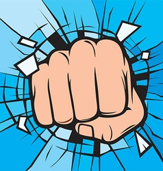 Punching hand cartoon vector