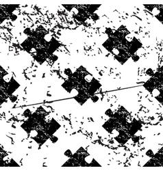Puzzle piece pattern grunge monochrome vector