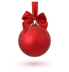 Red Christmas decoration ball vector