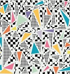 Retro 80s memphis pattern background vector image