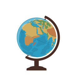 School globe on a white background vector