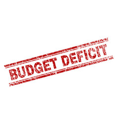 Scratched textured budget deficit stamp seal vector