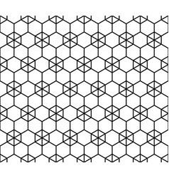 Simple seamless geometric ornament in monochrome vector