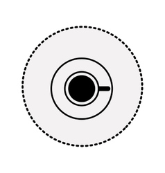 sticker silhouette coffee cup top view drink icon vector image