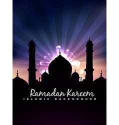 stylish islamic background vector image