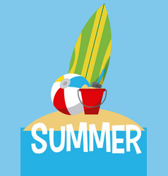 summer and beach vector image