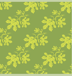 Summer leaves seamless different leaves pattern vector