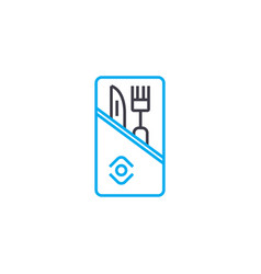 table set linear icon concept table set line vector image