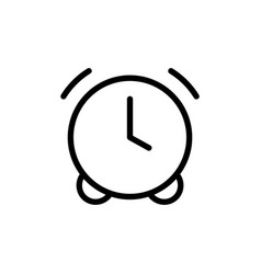 thin line clock alarm icon vector image