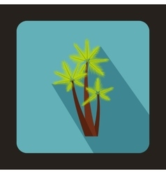 Three palms icon in flat style vector