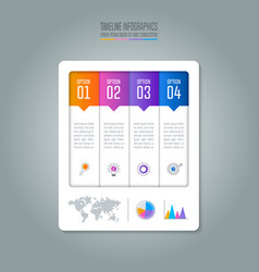timeline infographic business concept with 4 vector image