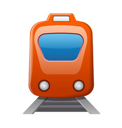train locomotive icon vector image