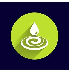 water drop rain droplet icon fluid clean design vector image
