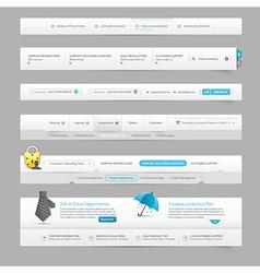 Web site design menu vector