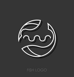 zodiac sign pisces pisces logo vector image