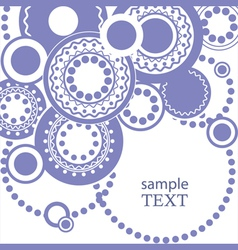 Abstract pattern for text with circles vector image vector image